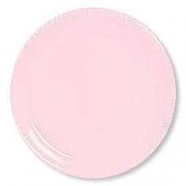 Feest Bord effen pink / 23cm