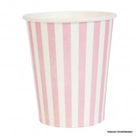 CE Bekers roze gestreept
