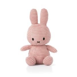 Nijntje knuffel corduroy - roze / 24cm