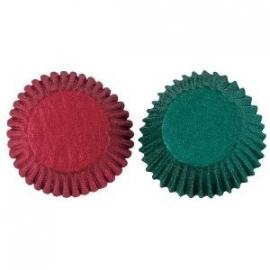 Cupcake vormpjes  / groen rood