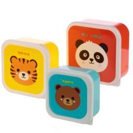 Lunchboxen set / schattige dieren