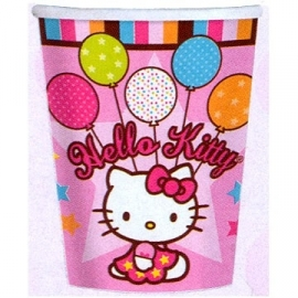 Hello Kitty balloons, kinderfeest beker
