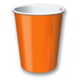 SE Beker effen oranje