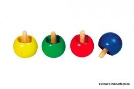 Omdraaitol / hout / diverse kleuren / pstk