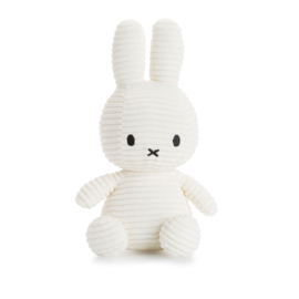Nijntje knuffel corduroy - wit / 24cm