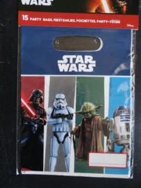 Star Wars  / uitdeelzakjes / kinderfeest / 15 stuks
