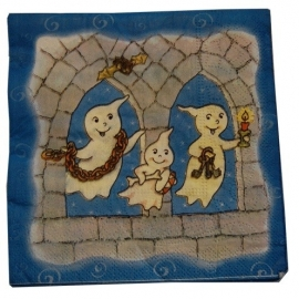 Servetten / Spookjes / Halloween - griezelfeest