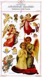 ME 8028 Poezie plaatjes stickers engel rood