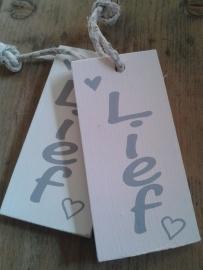 """Label - """"Lief"""" hout"""