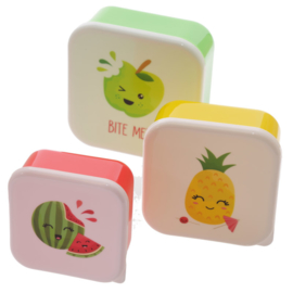 Lunchboxen set Tropisch Fruit