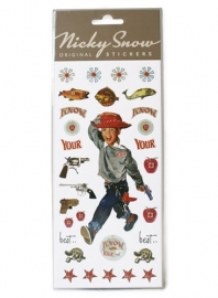 LT Nicky snow stickers cowboy
