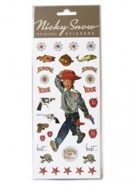 LT Nicky snow stickers cowboy