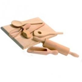 Houten keuken accesoires set / speelgoed