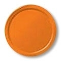 Feest Bord effen Oranje / 23cm