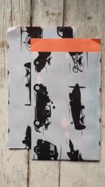 Vlakke Zakjes / nostalgische voertuigen / 12 x19 cm / 5stk