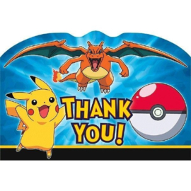 "Pokemon / feest ""thank you""kaarten"