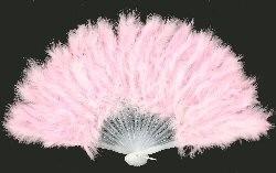 Handwaaier met pluche / roze