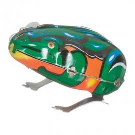 Springende kikker / blikken speelgoed