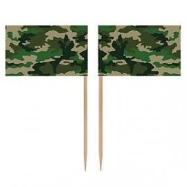 Camouflage - leger / feest prikkers