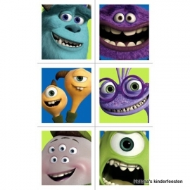 Monsters University / kinderfeest stickers