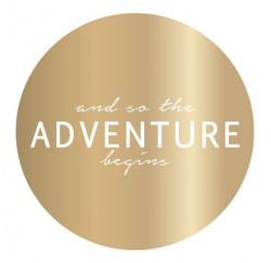 Sticker / Adventure / gold