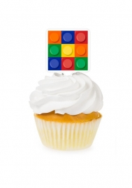 Block /  lego Party Cupcake toppers