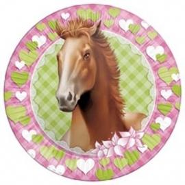 Paarden / kinderfeest borden 23 cm / 8 stk