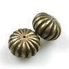 KG Platte ronde kraal brons