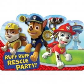 Paw Patrol / kinderfeest uitnodigingen