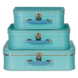 Kinderkoffertjes - lichtblauw