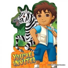 Go Diego Go /feest uitnodigingen