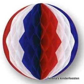 Honeycomb /  bal rood wit blauw