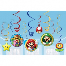 Super Mario  / feest hang draai decoratie