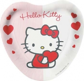 Hello Kitty sweet hearts , kinderfeest borden