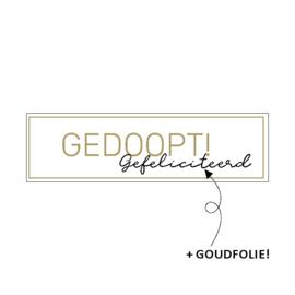 Stickers - gedoopt gefeliciteerd / 30stk