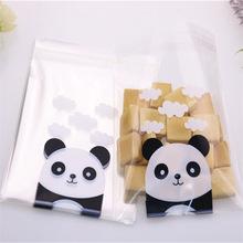 Cellofaan zakje / panda beer / 10x10cm / 10stk