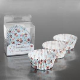 cupcake vormpjes | woodland paddenstoel