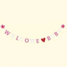 Slinger / Welcom baby roze