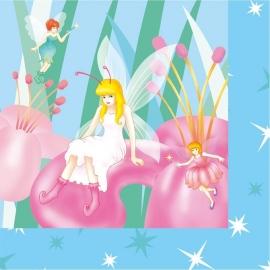 Elfjes / fairies servetten / blauw
