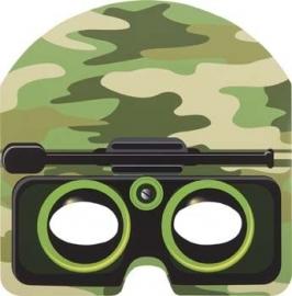 Camouflage - leger / feest masker