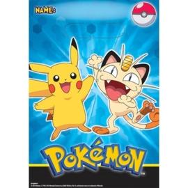 Pokemon / feest traktatie zakjes
