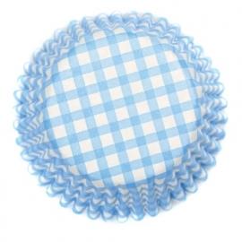 CupCake vormpjes / geruit blauw / wit