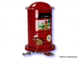 Spaarpot / rode brievenbus
