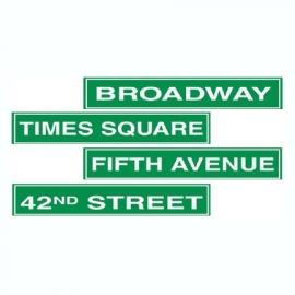 NYC straatnamen decoratie