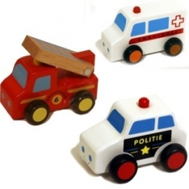 Voertuigen / Set brandweer / politie / ziekenauto