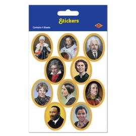 PP American faces in history stickers