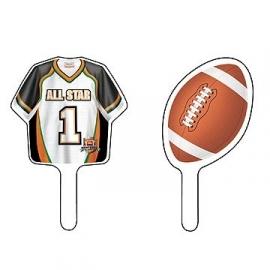 Cupcake prikkers /  American Football feest
