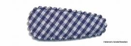 Haarkniphoesje | donker blauw-wit geruit 3 cm