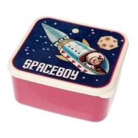 Lunchtrommel / broodtrommel /Spaceboy raket