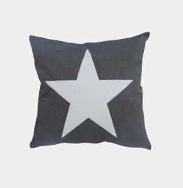 Kussenhoes  / Donkerrijs met grote ster
